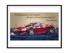 Enzo Ferrari - Quote Poster