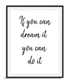 If you can dream it - Poster