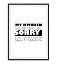 My kitchen was clean - Poster