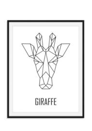 Giraffe poster - Geometrisch