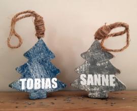 Kerstboom hanger met naam