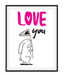 Love you roze poster - nummer 9