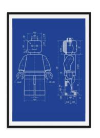 Lego poppetje - Design poster