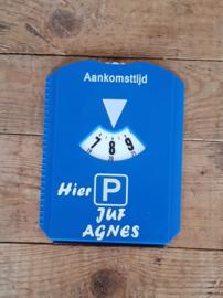 Parkeerschijf voor de juf of meester