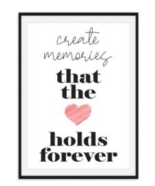 Create memories - Quote poster