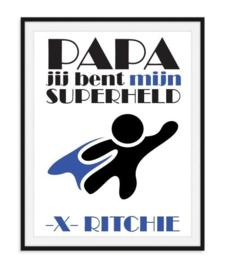 Vaderdag poster - mijn superheld met naam