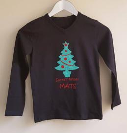 Kerst shirt met naam Santa's helper