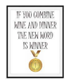 Wine en Dinner is Winner Poster