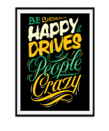 Be Happy - Poster