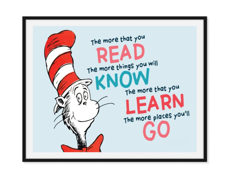 Read Know Learn Go - Wijze poster
