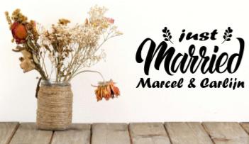 Just Married - Namen bruidspaar