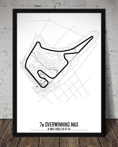 Circuit poster met positie en eigen tekst