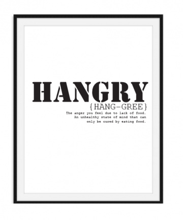 Hangry Hungry Angry - Poster