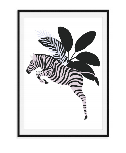 Jungle poster - Zebra
