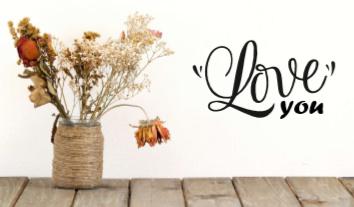 Love you - Sierlijke muursticker