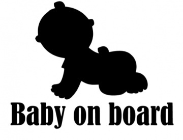 Autoruitsticker baby on board