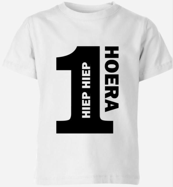 Hiep Hiep Hoera met cijfer shirt