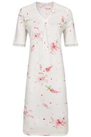 Nachthemd korte mouw Ringella bloemmotief met v-hals