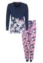 Pyjama  lange mouw bloemdessin