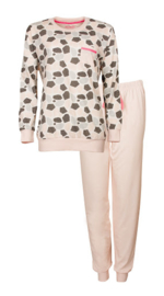 Pyjama lange mouw roze gemêleerd