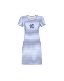 Nachthemd Ringella blauw gestreept
