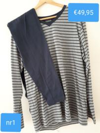 Pyjama Ringella V-Hals