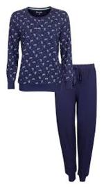 Pyjama lange mouw gebloemd