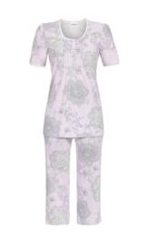 Pyjama korte mouw Ringella ronde hals lila