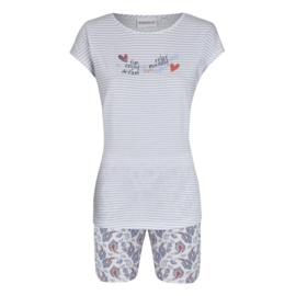 Pyjama korte mouw Ringella blauw gestreept