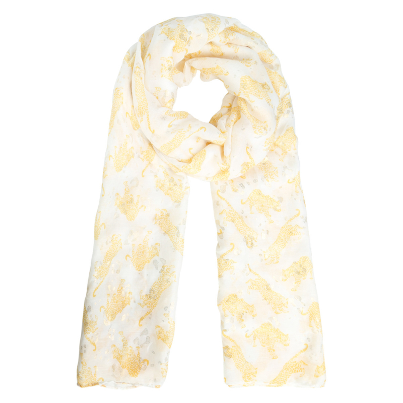 Sjaal langwerpig luipaardprint