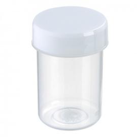 Pot 40 ml kunststof pp incl schroefdeksel