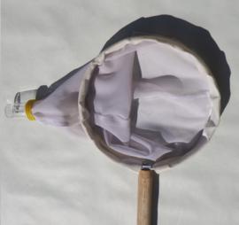 Planktonnet  55 mu   (0,055 mm) houten steel