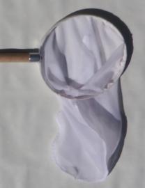 Watervlooien-net 20 cm (0,3 mm) houten steel