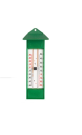 Thermometer min/max groen