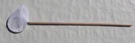 Slootnet 20 cm grofmazig  (1 mm) houten steel