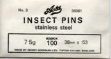Insect pins Asta RVS