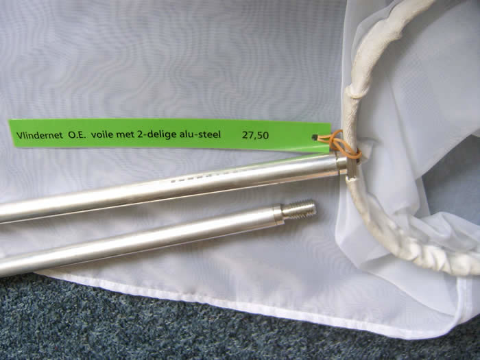 Vlindernet aluminium steel