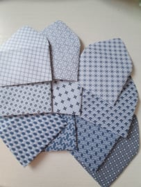 Blauw witte mini enveloppen 10  stuks