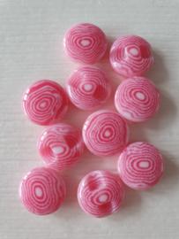 Roze knoopjes 10 stuks
