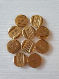 Kleine goudkleurige knoopjes 1o stuks