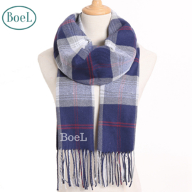 BoeL Sjaal blauw wit