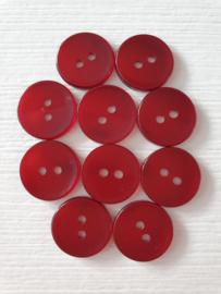 Donkerrode knoopjes 10 stuks
