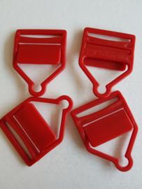 Rode bretelhouders