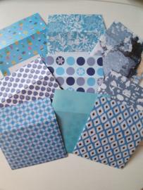 Blauwe enveloppen 9 stuks