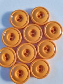 Gele knopen 2 gaten 10 stuks