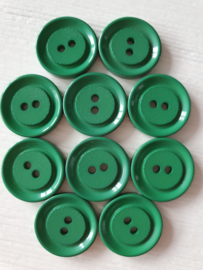 Groen ronde knopen 10 stuks