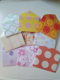 Mini enveloppen 9 stuks