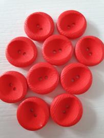 Ronde rode knopen 10 stuks