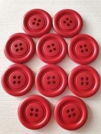 Grote rode knopen 10 stuks
