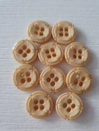Crème knoopjes bewerkt 10 stuks
